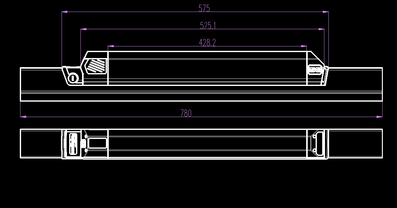 Dorado Inline Style Batterry 575mm long